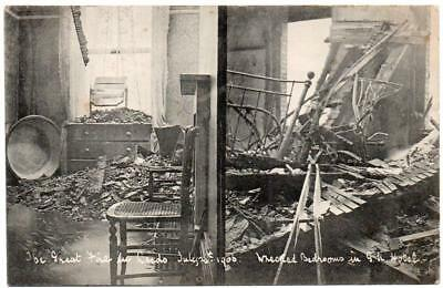 1906 LEEDS Great Northern Hotel Great Fire Damage  Postcard