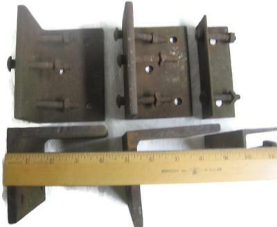 Factory Cart Angle Iron Corners for Coffee Table - Rusty Old Industrial Project