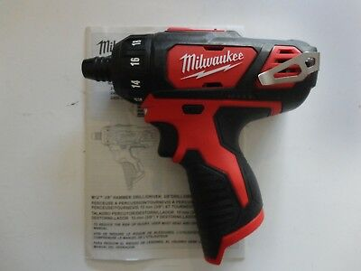 "MILWAUKEE 2406-20 12V M12 12 Volt Li-Ion 1/4"" Hex 2 Speed Cordless Screwdriver"