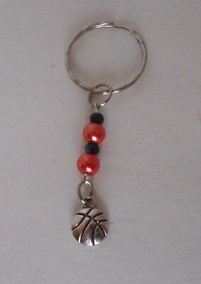 handcrafted zipper pull backpack charm basketball