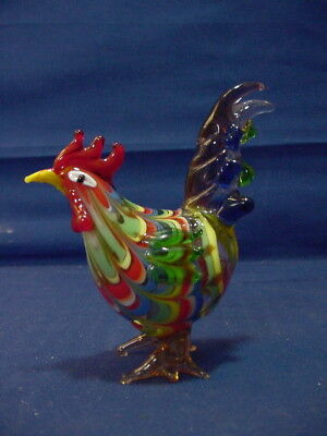 "Fitz & Floyd Glass Menagerie 3 3/8"" ROOSTER Figurine - No Box"