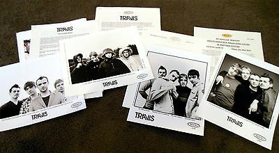 TRAVIS The Invisible Band Tour The Man Who 4 x Press Kit Lot With 8x10 Photos