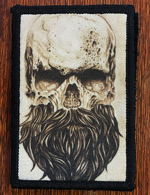 Skull Beard Morale Patch Tactical ARMY Hook Military USA Badge Flag Seals Devgru
