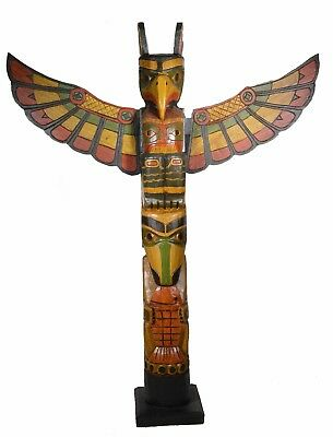 3 Ft Tribe Northwest Coast Style Salish Eagle Indian Totem Pole Native American