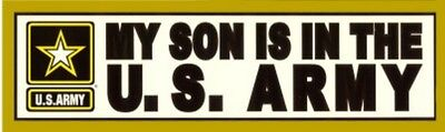 My Son is in the Army with Metallic Star Bumper Sticker