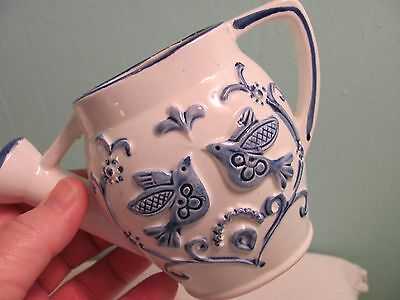 VTG Rubens Ceramic Porcelain Watering Can, Blue & White Delft style, Japan