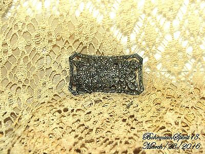 ANTIQUE 1930's VINTAGE ART DECO LARGE MARCASITE FILIGREE BROOCH/PIN AS IS