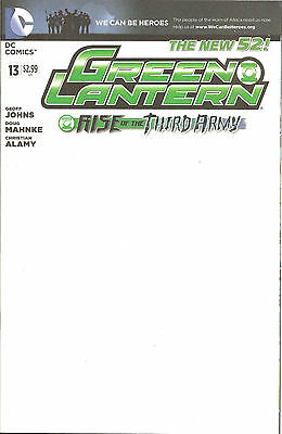 Green Lantern #13  Blank  Variant  Cover   Rise Of The Third army