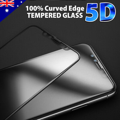 iPhoneX Tempered Glass Screen Protector Guard 5D Full Cover Crystal for Apple OU