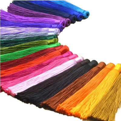 20 Colors 10 pcs/lot 12CM Satin Tassels Charms Pendant For DIY Jewelry Making