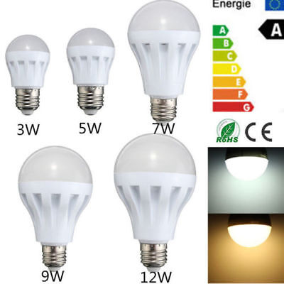 UK E27 5W 7W 9W 12W Smart LED Eco Bulb Light Bulb Rechargeable Intelligent Lamp