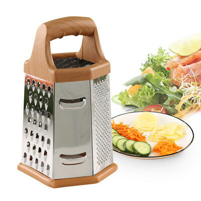 6 Sided Box Grater Multi Purpose Stainless Steel Vegetable Cheese Potato Carrot