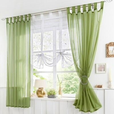 Floral Tie-up Tulle Voile Door Window Curtain Drape Panel Sheer Scarf Valances