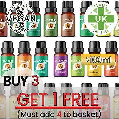 100% Pure Aromatherapy Essential Oils - 100ml