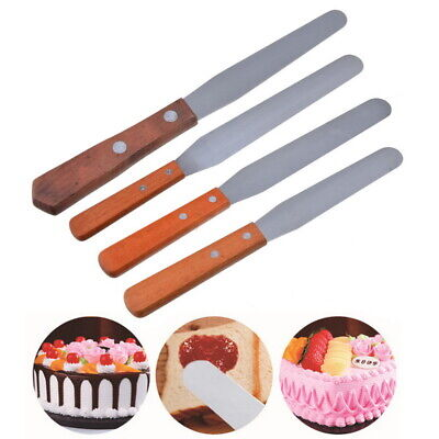 "New 4"" 6"" 8"" 10""Offset Cake icing spatula set Party Club Tools - stainless steel"