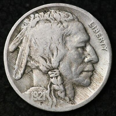 1921-S Buffalo Nickel CHOICE VG FREE SHIPPING E204 HM