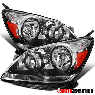 Fit 05-07 Honda Odyssey Crystal Clear Headlights Headlamps Left+Right Pair