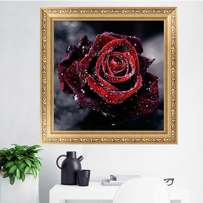 "Diamond Painting - Diamant Malerei - Stickerei - ""Rose"" - Set - Neu (659)"