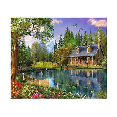 "Diamond Painting - Diamant Malerei - Stickerei - ""Haus am See"" - Set - Neu (661)"