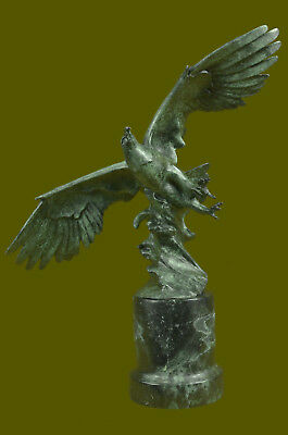 Close Out Original Bronze Eagle Sculpture - Multi PATINA - Signed Figurine