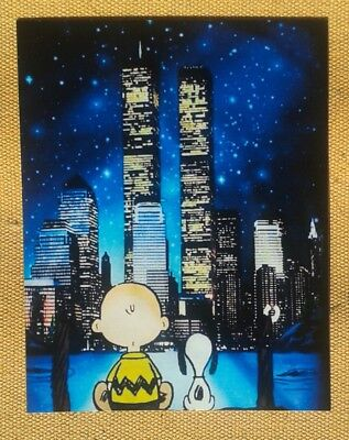 Peanuts Snoopy Charlie Brown New York  Magnet RARE