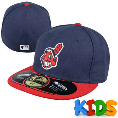 Cleveland Indians Officially Licenced MLB KIDS New Era 59FIFTY Fitted Cap 6 3/8