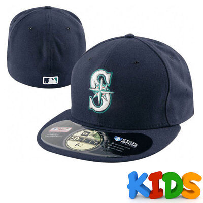 Seattle Mariners Officially Licenced MLB KIDS New Era 59FIFTY [5950] Fitted Cap