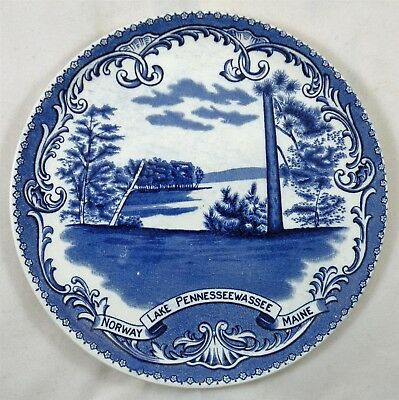 Norway Maine Lake Pennesseewassee Antique Historic Souvenir Collector Plate