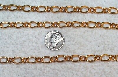 Vintage Incredible Solid Brass Large Link Jewelry Chain 5 Feet