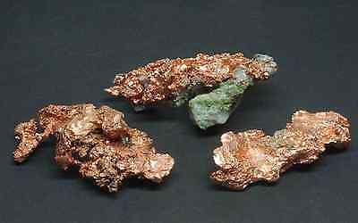 3 Native Copper Specimens 4.2 Oz Keweenaw Michigan USA 97673