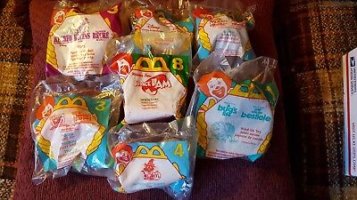 Lot of 7 Vintage McDonald's Happy Meal Mini Toys