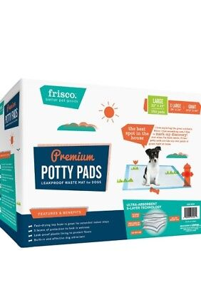 Frisco Training & Potty Puppy Pads 5 Layers Leak Proof 22 X 23 150 Absorbent