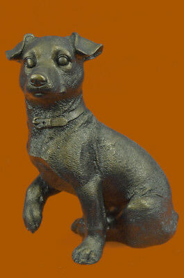Close Out Jack Russell Terrier Collectible Dog Bronze Sculpture Masterpiece Art