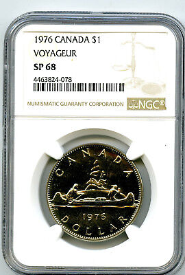 1976 $1 Canada Voyageur Ngc Sp68 Specimen Dollar Super Rare Top Pop Only 6 !!