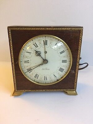Vintage Seth Thomas WOOD Electric working Alarm Clock Poise No. SS7-Q - Works