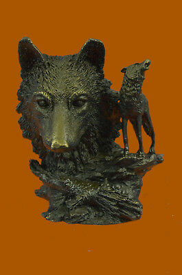 Close Out Game of Thrones Howling Wolf Art Deco Wildlife Bronze Statue Figurine