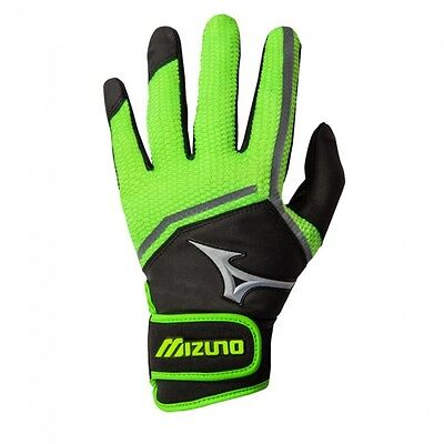 Mizuno Finch Women's Fastpitch Softball Batting Gloves 330354 Optic/Black