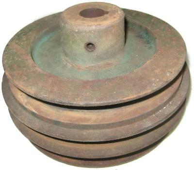 Old Primitive 6.5 Inch Pulley For Steampunk Industrial Art 11.5 lb Lamp Base
