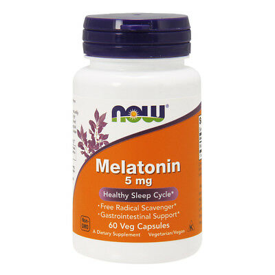 NOW FOODS Melatonine 5mg, 60 Caps - Melatonina