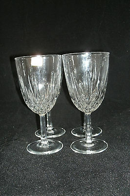 "Luminarc Cristal d'Arques Durand DIAMANT Clear Set of 4-6 3/4""  Water Goblets"