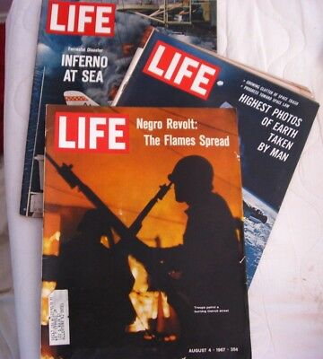 Life Magazine Aug 4, 5, 11, 1967  3 magazines view photos for CONTENTS LIST