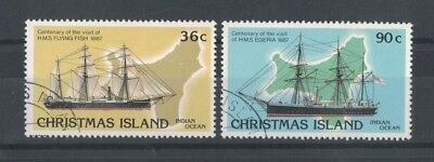 1987 Christmas Island Ships SG 227/8 fine used set 4