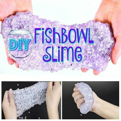 Fishbowl Beads Round Pearl Slime Mixture Tinfoil Paper DIY Crystal Clay Crafts