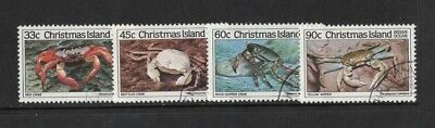 1985 Christmas Island Crabs SG 203/6 fine used set 4