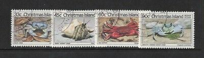 1985 Christmas Island Crabs SG 199/202 fine used set 4