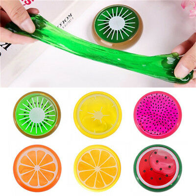 AU!! Non-Toxic Fruit Crystal Clay Putty Jelly Slime Plasticine Mud Play-Doh Toy