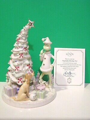 LENOX A GRINCHY CHRISTMAS EVE Grinch tree Sculpture NEW in BOX with COA