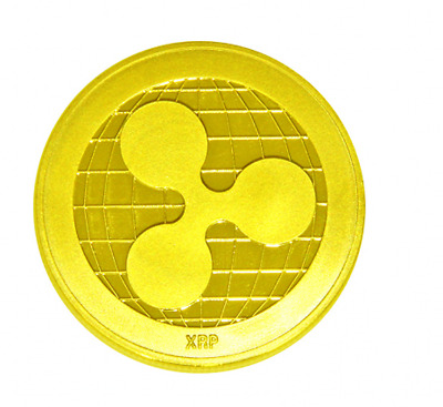 XRP!! Gold Ripple Coins Commemorative Round Collectors Coin XRP Coin Gold Plated