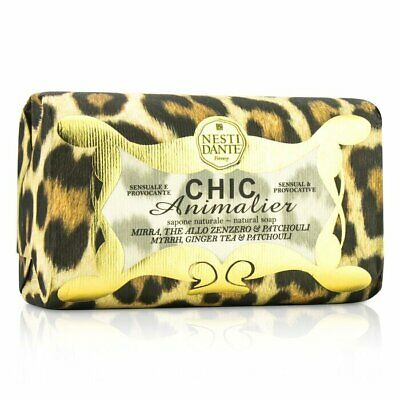 Nesti Dante Chic Animalier Natural Soap - Myrrh, Ginger Tea & Patchouli 250g