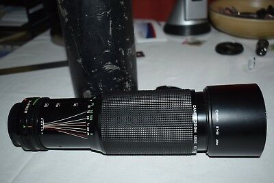 Vintage Canon FD 100-300mm f/5.6 MF w/Hood BT-58 Made in Japan Original Cap Case